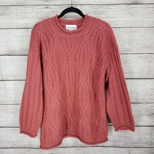 Vintage Christina M Mohair Pullover Sweater Cable